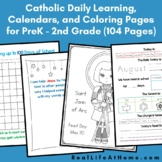 Catholic Daily Learning Notebook and Calendar Packet (Upda