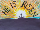 Catholic Easter Art - He is Risen (Jesus Religious)