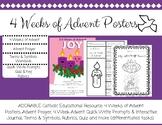 Catholic Education Advent 4 weeks Posters and Workbooks, r