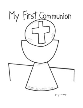 Catholic First Communion booklet - First Eucharist