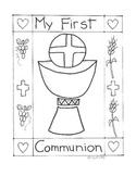 Catholic First Communion booklet - First Eucharist
