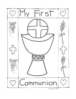 Communion Coloring Page Worksheets & Teaching Resources | TpT | 350x270