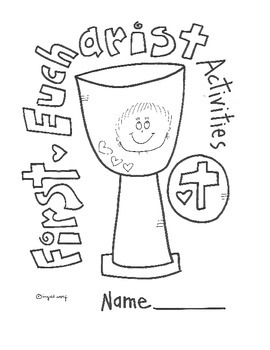 Catholic First Eucharist Activity Booklet By Ingrid S Art