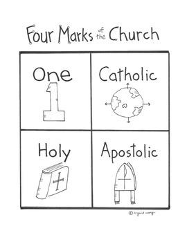 Catholic -Four Marks of the Church activity