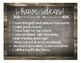 Catholic Graduate Expectations Poster - Rustic Chalkboard & Weathered Wood