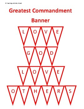 Catholic Greatest Commandment Banner