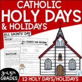 Catholic Holy Days for Upper Elementary Grades | All Saints' Day