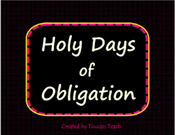 Catholic Holy Days of Obligation in the United States SMARTBoard Activities