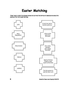 Catholic Kids Easter Season Puzzle Book