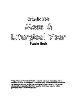 Catholic Kids Mass & Liturgical Year Puzzle Book