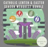 Distance Learning: Catholic Lenten & Easter Season WebQuest Bundle