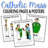 Catholic Mass Actions & Priests Posters and Coloring Pages, CCD