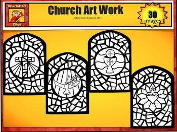 Catholic Mass Clip Art Set 3: Art & Environment from Charlotte's Clips