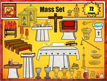Catholic Mass Clip Art Set from Charlotte's Clips