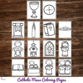 Catholic Mass Coloring Pages : No Prep Catholic Activity