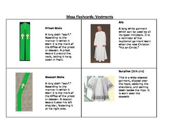 Catholic Mass Flashcards- Bundle