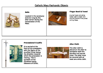 Catholic Mass Flashcards- Objects