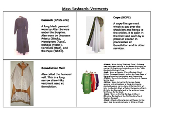 Catholic Mass Flashcards- Vestments