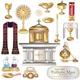 Catholic Mass Items Clip Art Set