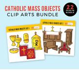 Catholic Mass Objects Clip Arts Bundle (includes 2 sets!)