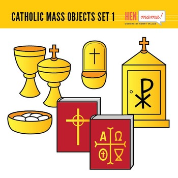 Catholic Mass Objects - Set 1 (Religious Items Seen in Church)