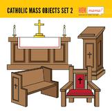 Catholic Mass Objects - Set 2 (Church Religious Furnitures)