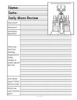Catholic Mass Review Pages