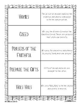 Catholic Mass BINGO: Game to Practice the Vocabulary & Order of Catholic Liturgy