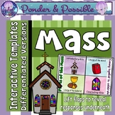 Catholic Mass ~ The Four Parts of The Liturgy ~ Interactive Template