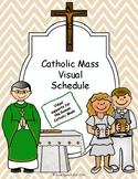 Catholic Mass Visual Schedule