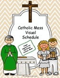 Catholic Mass Visual Schedule