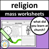 Catholic Mass Worksheets Expanded