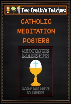 Catholic Meditation Manners Posters