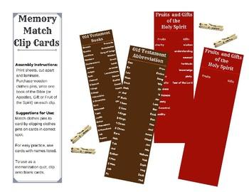 Catholic Memory Clip Cards
