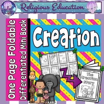 Catholic Mini Book - Creation {One Page Foldable}