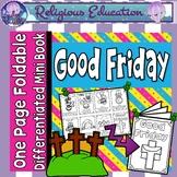 Catholic Mini Book - Good Friday Easter {One Page Foldable}