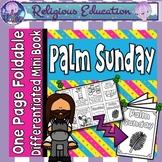 Catholic Mini Book - Palm Sunday Easter {One Page Foldable}