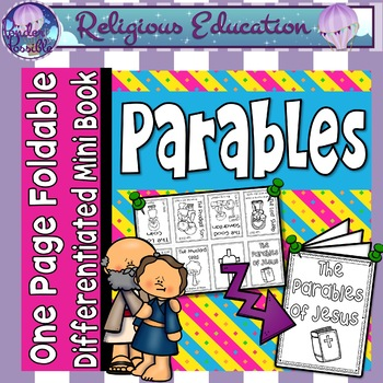 Catholic Mini Book - Parables {One Page Foldable}
