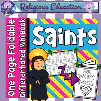 Catholic Mini Book - Saints {One Page Foldable}