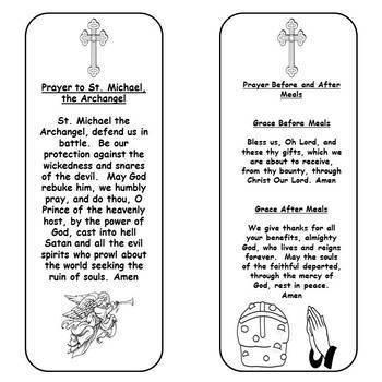 Catholic Prayer Bookmarks 2