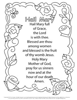 Catholic Prayer Coloring Pages Super Mega Packet With 16 Free Bonus