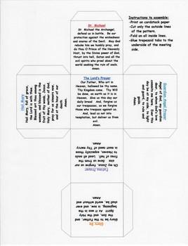 Catholic Prayer Cube