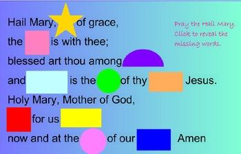 Catholic Prayer Hail Mary SMARTBoard Activites