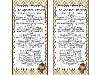 Catholic Prayer Helper:  The Apostles' Creed