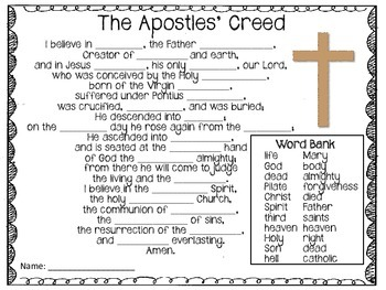 It is a graphic of Accomplished Printable Apostles Creed
