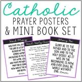 Catholic Prayers Posters and Mini Book Set, Memory Work