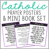 Catholic Prayers Posters and Mini Book Set, Memory Work