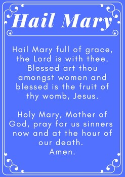 Catholic Prayer Posters- Part 1
