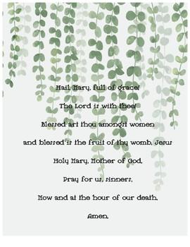 Catholic Prayer Posters