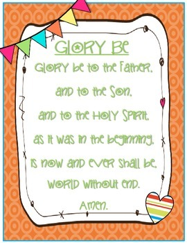 Catholic Prayer Posters {Brights}--Pack One